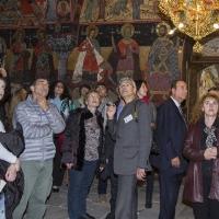 В притвора на съборната църква на Бачковския манастир