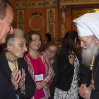 Патриарх Неофит в разговор с проф. Хени Лорер