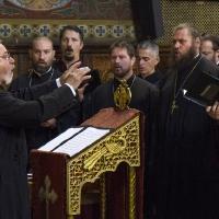 Софийският свещенически хор с диригент ик. Кирил Попов
