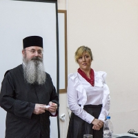 Архимандрит проф. д-р Григорий Папатомас и  Силва Маринова