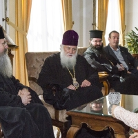 Среща на архим.проф. д-р Григорий Папатомас с Българския патриарх Неофит