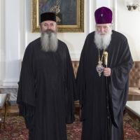 Архимандрит проф. д-р Григорий Папатомас с патриарх Неофит