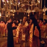 Всенощно бдение в Зографската обител - с Пловдивски митрополит Николай