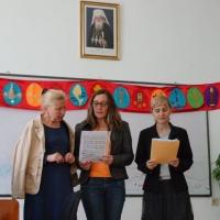 Момент от изпита и връчването на дипломи в Енорийския център на храм Св. Кирил и Методий