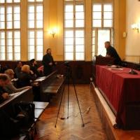 Конференцията в аулата на Богословския факултет