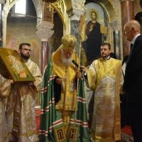 Патриарх Неофит подари на цар Симеон II икона на Христос Вседържител