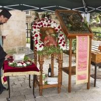 Св. мощи на вмчца Марина и копието на чудотоврната икона на Пресвета Богородица - Портаитиса