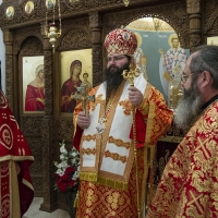 Архиерейска св. Литургия в митрополитския храм Св. Марина с Мелнишки епископ Герасим