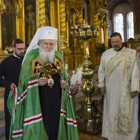 Негово Светейшество Софийският митрополит и патриарх Български Неофит в храм Св. Седмочисленици