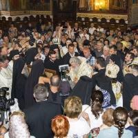 Посрещане на светите мощи на великомъченик Пантелеймон в храма