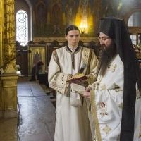 Отпуст с архимандрит Василий и дякон Димитър