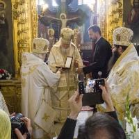 Подарък енголпие за епископ Пантелеймон