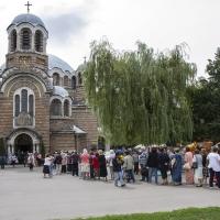 Опашка храм Св. Седмочисленици за поклонение пред мощите на св. Пантелеймон