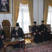 Среща със светогорските монаси в Софийската св. митрополия