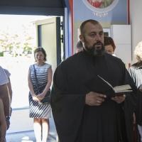 Апостолско четиво с един от строителите на храма  доц. д-р инж. Ангел Захариев