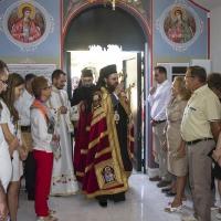 Посрещане на Белоградчишки епископ Поликарп в храма