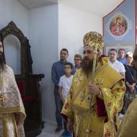 Първа св. Литургия в новосветения храм Св. Козма и Дамян