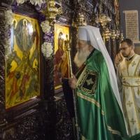 Негово Светейшество патриарх Неофит в храм Преображение Господне