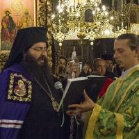 Мелнишки епископ Герасим на бдението в Рилския манастир