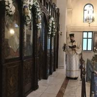 Дякон Петко Дишков в храм Рождество Богородично