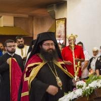 Посрещане на Мелнишки епископ Герасим в храм Рождество Богородично