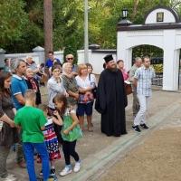 Посрещане от отец Владимир