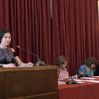 Изложението на Емануела Иванова при защитата на дисертацията