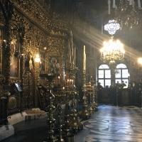Вечерня в съборната църква на Рилския манастир