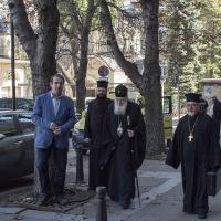 Посрещане на Негово Светейшество патриарх Неофит пред Богословския факултет