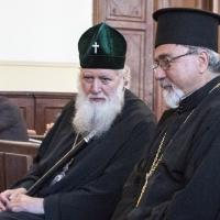 Патриарх Неофит с иконом Кирил Попов