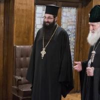 Архимандрит Василий и Патриарх Неофит
