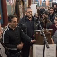 Клиросните певци, водени от г-н Андрей Касабов