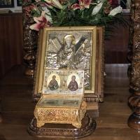 Мощехранителницата с частици на св. апостол Андрей и св Параскева
