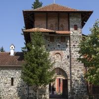 Главният вход на манастир Жича - сръбска царска лавра