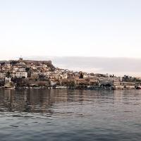 Старият град на Кавала, с крепостта