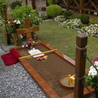 Гробът на преп. Паисий Светогорец в исихастирия Св. Иоан Богослов в Суроти