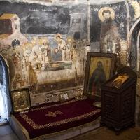 Гробът на преп. Наум Охридски в неговия манастир край Охрид