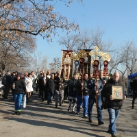 Велик богоявленски водосвет в София и ритуално хвърляне на св. Кръст_1