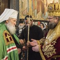 Посрещане на Негово Светейшество патриарх Неофит в храма