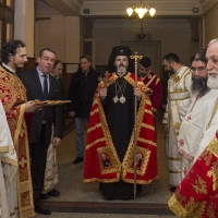 Посрещане на митрополит Антоний в Богословския факултет