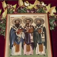 Празнична икона на св. Три светители