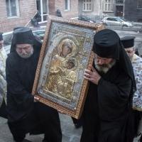 Посрещане на копието на Иверската чудотворна икона