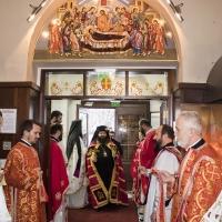 Посрещане на Мелнишки епископ Герасим в храма