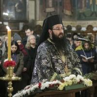 Архимандрит Василий в храм Св. Седмочисленици