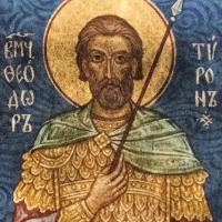 Стенопис на св. Теодор Тирон в храм Св. Неделя