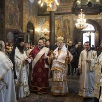Благодарствен молебен за годишнината от интронизацията на патриарх Неофит