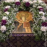 Празнично украсена икона на св. Андрей Критски