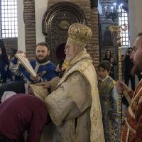 Пострижение на нови четци в храм Св. София