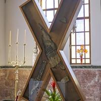 Останки от кръста на който е разпънат св. Андрей в Патра