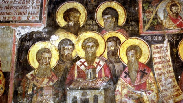 Стенопис със Седмочислениците в манастира Арденица, Албания